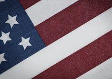 Bandeira americana com aparência do grunge Fotografia de Stock Royalty Free