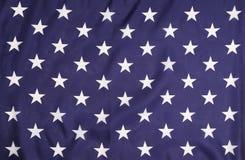 Bandeira americana com estrelas brancas. fotografia de stock royalty free