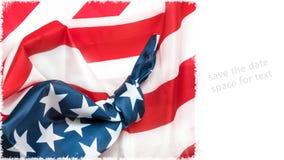 Bandeira americana com nó Fotografia de Stock Royalty Free