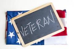 A bandeira americana comemora veteranos imagens de stock royalty free