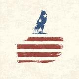 Bandeira americana dada forma gosto. Imagem de Stock