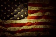 Bandeira americana de Grunge imagens de stock royalty free