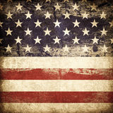 Bandeira americana de Grunge. Imagem de Stock Royalty Free