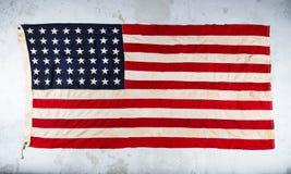Bandeira americana de Grunge fotografia de stock royalty free