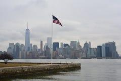 Bandeira americana de New York em Staten Island Fotos de Stock Royalty Free