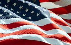 Bandeira americana de ondulação fotografia de stock