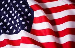 Bandeira americana de ondulação Foto de Stock