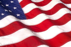 Bandeira americana de ondulação Imagem de Stock Royalty Free