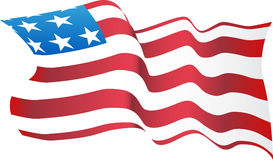 Bandeira americana de sopro Imagem de Stock Royalty Free