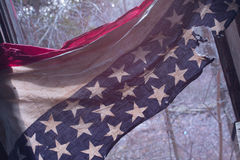 Bandeira americana destruída Fotografia de Stock