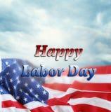 Bandeira americana do Dia do Trabalhador fotografia de stock