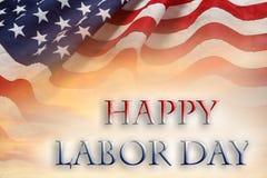 Bandeira americana do Dia do Trabalhador foto de stock royalty free