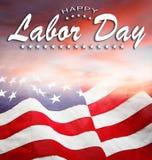 Bandeira americana do Dia do Trabalhador imagens de stock royalty free