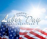Bandeira americana do Dia do Trabalhador ilustração royalty free