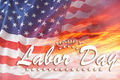 Bandeira americana do Dia do Trabalhador imagem de stock royalty free