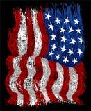Bandeira americana do grunge imagens de stock