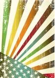 Bandeira americana do grunge Multicolor ilustração do vetor