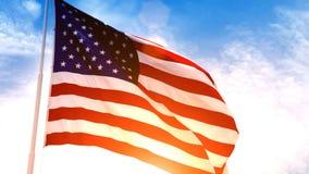 Bandeira americana dos EUA video estoque
