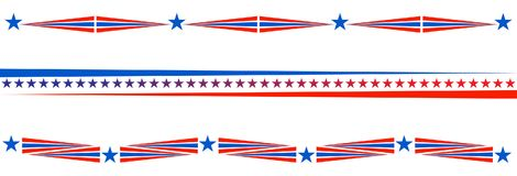 Bandeira americana dos EUA do divisor patriótico da beira ilustração stock