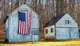 Bandeira americana e América rural imagem de stock royalty free