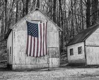 Bandeira americana e América rural imagens de stock royalty free