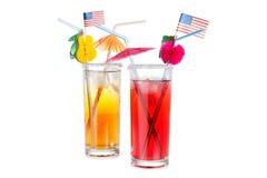 Bandeira americana e cocktail Imagem de Stock