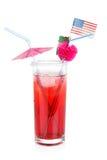 Bandeira americana e cocktail Foto de Stock Royalty Free