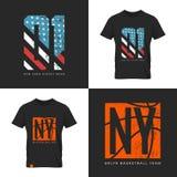 Bandeira americana e efeito velho do grunge do basquetebol Foto de Stock Royalty Free