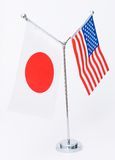 Bandeira americana e japonesa da tabela Fotografia de Stock