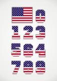 Bandeira americana e números Imagem de Stock Royalty Free
