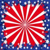 Bandeira americana estilizado Fotos de Stock Royalty Free