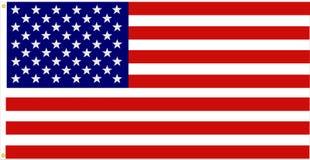 Bandeira americana exata ilustração stock