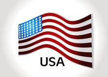Bandeira americana, fundo do vetor para a independência  Imagens de Stock