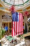 Bandeira americana gigante imagens de stock