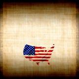 Bandeira americana Grunge ilustração stock