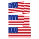 Bandeira americana, ilustração lisa Imagem de Stock Royalty Free