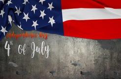 Bandeira americana Memorial Day ou 4o de julho Fotos de Stock Royalty Free