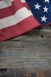Bandeira americana na madeira rústica Fotografia de Stock