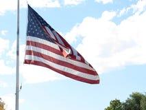 Bandeira americana no céu Foto de Stock Royalty Free