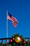 Bandeira americana no Natal Fotografia de Stock