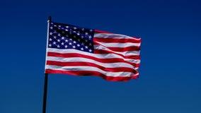 Bandeira americana no vento video estoque