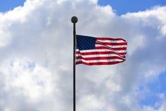 Bandeira americana nova Fotografia de Stock Royalty Free