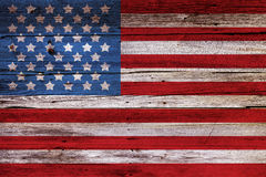 Bandeira americana pintada Imagens de Stock