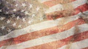 Bandeira americana rústica Imagem de Stock Royalty Free