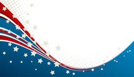 A bandeira americana, Vector o fundo patriótico Imagens de Stock