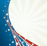 A bandeira americana, Vector o fundo patriótico ilustração do vetor