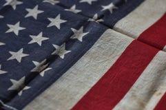 Bandeira americana velha Foto de Stock Royalty Free