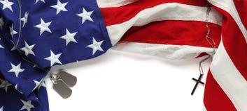 Bandeira americana vermelha, branca, e azul Fotos de Stock Royalty Free