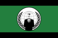 Bandeira anónima Fotografia de Stock Royalty Free