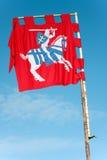 Bandeira antiga de Lithuania foto de stock
